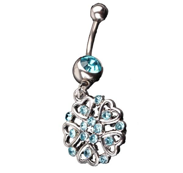 Fashion Göbek Piercing Heart Flower