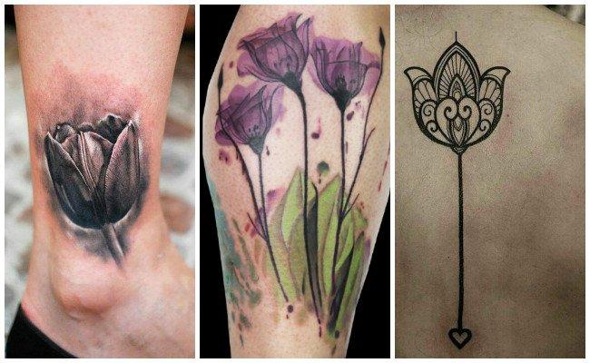 Tatuajes De Tulipanes Significados Diseños E Imágenes Que Te