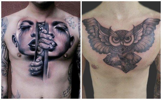 Los Mejores Tatuajes En El Pechonombres Letras Y Más