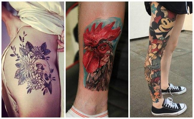 Tatuajes En La Pierna Fotos Y Ejemplos Para Hombres Y Mujeres