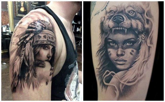 Tatuajes De Indios Americanos Y Guerreros Apaches Diseños Y