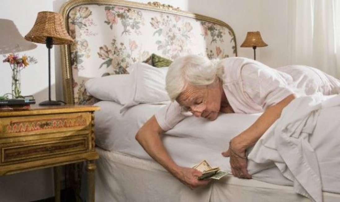 Risparmi il materasso come cassaforte  Pierluigi