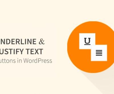 Plugin per ripristinare il testo giustificato e sottolineato in wordpress