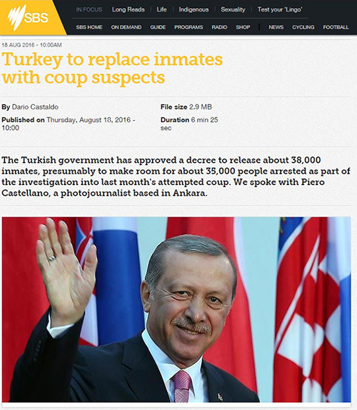 Turkey to replace inmates with coup suspects