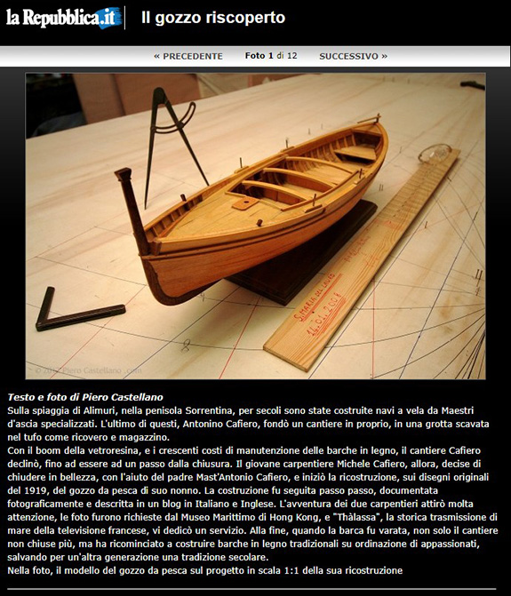 The reconstruction of a 100 years old fishing boat