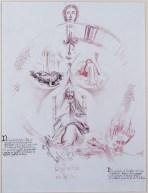 Visione del Luogo Centrale o del Doppio, 1999 inchiostri, penna e acquarello su carta pergamena, cm 100 x 70