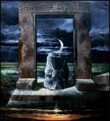 La porta della luna – 1996 Acrilico su tela, cm 200 x 180