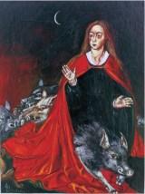 Regana - Anima Nera, 1999 acrilico su cartone, cm 15 x 18 cm collezione privata, Milano