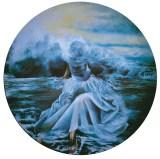Acqua, 1997 tempera e olio su tavola, Diametro cm 150 collezione privata