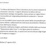 L'attrice Lucia Bose scrive a Piero Colombani