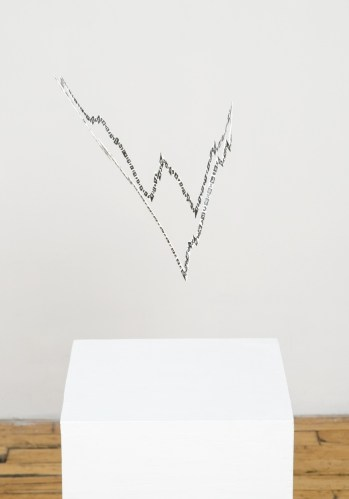 """John O'Connor - """"Shape of War,"""" 2013, Acrylic and gesso on board, Dimensions variable"""