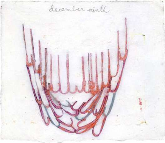 """""""December Ninth,"""" 2009, Acrylic on paper, 6 x 7 inches"""