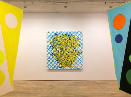 """Reed Anderson - """"Days Calling Nights,"""" Installation view at Pierogi, February 2018"""