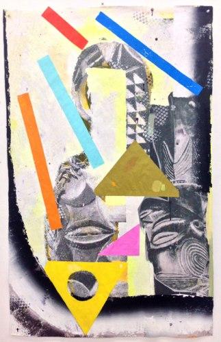 Lionel Richie Hardcore - 2014, Acrylic on photographic print, 61.5 x 40 inches