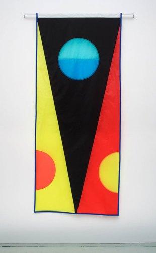 """Reed Anderson - """"Sea Bright,"""" 2017, Ripstop nylon, thread, 84 x 36 inches"""