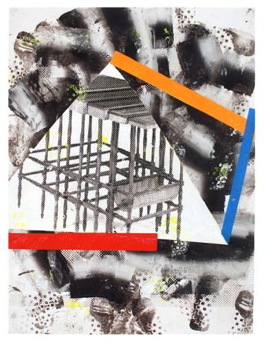 Tango Woo Hotbox - 2013, Acrylic on photographic print, 52 x 40 inches