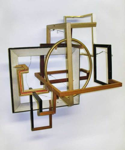 "Jean Blackburn - ""Labyrinth,"" Wood, wire, 20 x 26 x 17 inches"