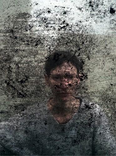 """Nadja Bournonville - """"Gheimniszustand (Intercepted),"""" 2018, 70 x 52 cm / 27.5 x 20.8 inches"""