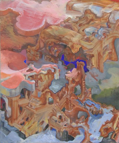 Journey to the Center of the Earth (5) - 2007-11, Oil on linen, 60 x 50 inches