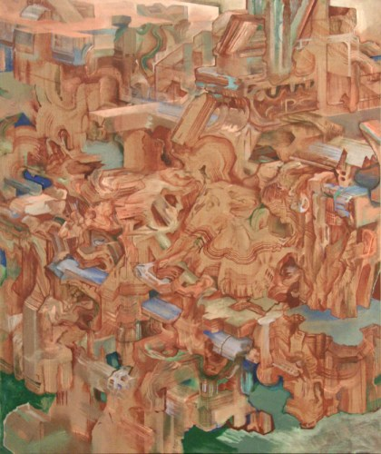 Rubble of its Own Debris (11) - 2011, oil on linen, 50 x 60 inches