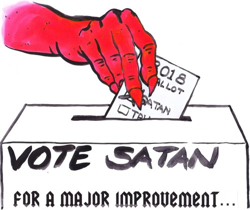 "Tom Burckhardt - ""Vote Satan"""