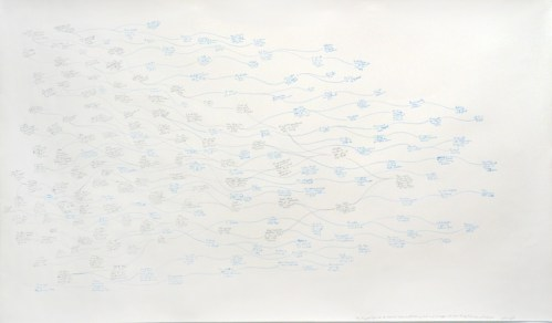 Beth Campbell - My Present's Past and Its Potential Future (or all the things that had to happen and some that never will), 2014, Graphite and colored pencil on paper, 39 x 67.5 inches