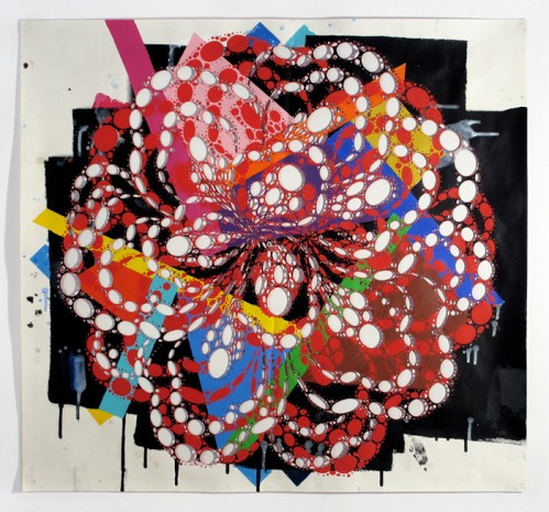 Captain Goodnight - 2011, Acrylic on cut paper, 29 x 27 inches. Sold
