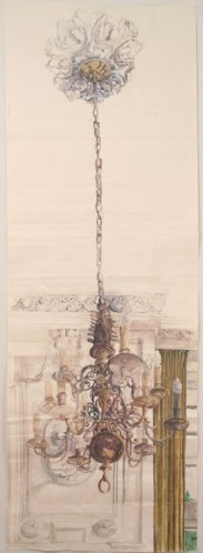 Maele Luster - 2011, gouache on paper, 120 x 41.5 inches