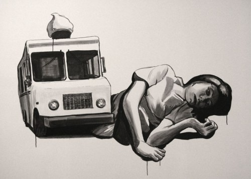 Wall Mural - 2012, ink on wall