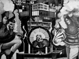 "Hugo Crosthwaite - Mural: ""La Apoteosis de un Taco,"" 2021, Pencil, charcoal and acrylic paint on Museum Board, 120 x 224 inches"