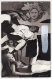 Hugo Crosthwaite - Untitled (HC006), 2021, Ink wash and acrylic on paper, 8.5 x 5.5 inches