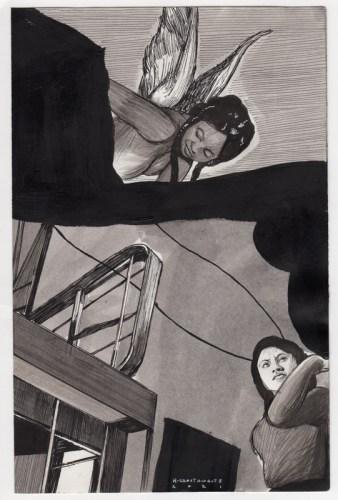 Hugo Crosthwaite - Untitled (HC013), 2021, Ink wash and acrylic on paper, 8.5 x 5.5 inches