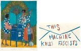 "Marcel Dzama - Left: Front of T Right: Back of T ""This Machine...""* Available on Ts and Totes only"