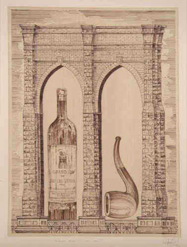 Brooklyn Bridge/ Her, Him - 2008, Ink on paper, 32.25 x 24 inches