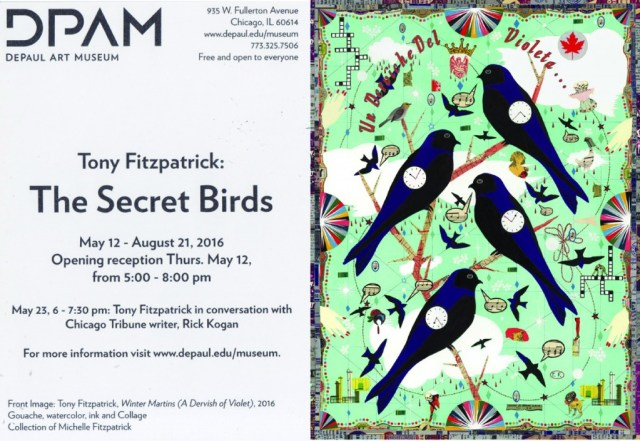 Tony Fitzpatrick at Depaul Museum