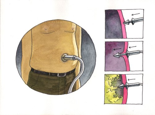 """Pop"" (Film-strip Still) - ""Pop"" (Film-strip Still), 2011, Ink and watercolor on paper, 9 x 12 inches"