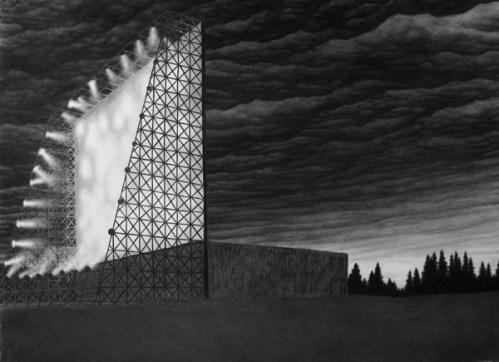 Eidophusikon - 2009, graphite on paper, 22 x 30 inches