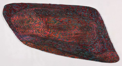 ArtyemSavelyev - 2010, Plasticine on PVC board, 26 x 6 x 51 inches