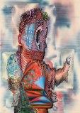 """James Esber - """"Execution,"""" 2009, acrylic on canvas, 42.25 x 30 inches"""