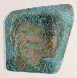 FalconHeene - 2010, Plasticine on PVC board, 30 1/2 x 30 1/2 x 6 inches