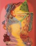 """James Esber - """"Flag Waver I,"""" 2019, Acrylic on PVC panel, 40.5 x 32 inches"""