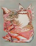 """James Esber - """"Untitled (S.O.L.),"""" 2008, Acrylic, Ink and Colored Pencil on Paper, 17 x 13 inches"""