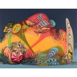 """James Esber - """"Sleeper,"""" 2021, Acrylic on canvas, 48 x 62 inches"""