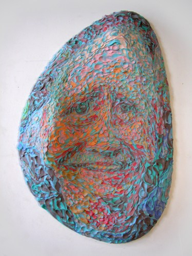SullySullenberger - 2009, Plasticine on PVC board, 24 x 38 x 7 inches