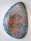 "James Esber - ""Sulley Sullenberger,"" 2009, Plasticine, 38.5 x 24.75 x 5.5 inches"
