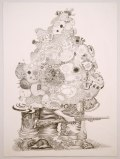 "J. Fiber - ""Excess Baggage,"" 2008, Graphite on paper, 30 x 22 inches"