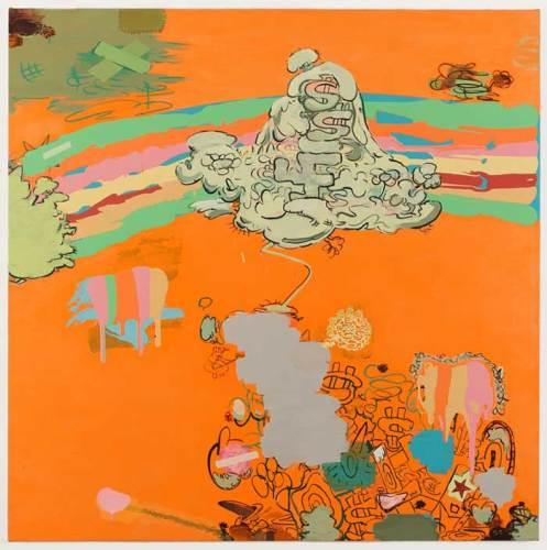 "Jane Fine - ""Crystal Night,"" 2018, Acrylic on canvas, 48 x 48 inches"