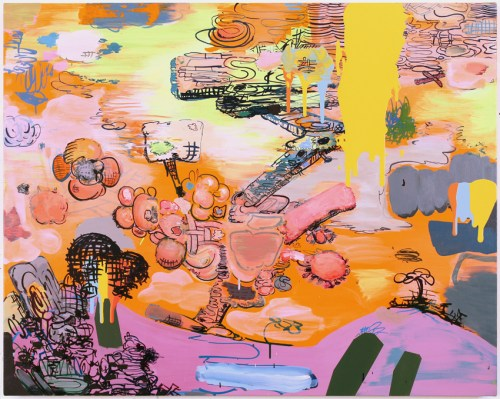 """Jane Fine - """"Dear Free Thinkers,"""" 2019, Acrylic on canvas, 32 x 40 inches"""