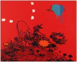"Jane Fine - ""Heat Stroke,"" 2019, Acrylic on Canvas, 24 x 30 inches"