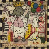 Little King - 2011, Etching on paper, 5 x 5 inches (paper), 3 x 3 inches (image). #3/45